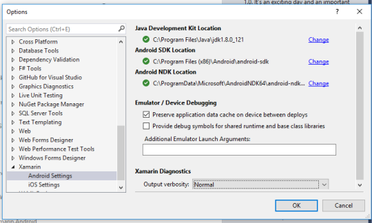 Setting up Visual Studio 2017 for Xamarin Development