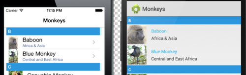 Enhancing Xamarin Forms ListView with Grouping Headers - James