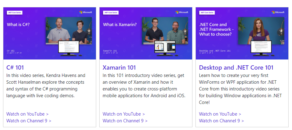 Free C# and Xamarin for Beginners Videos Series