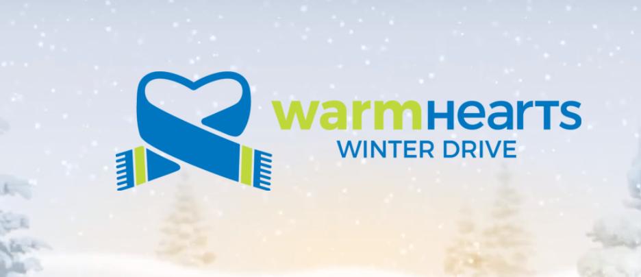 Warm hearts winter drive logo