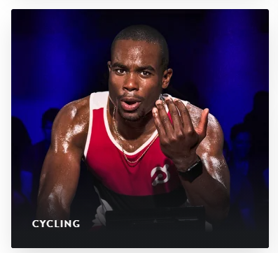 Image of indoor cycling from the peloton website