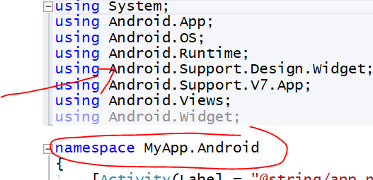 Your namespace conflicts with Android