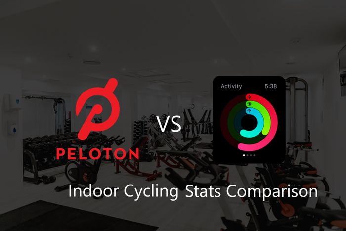 Indoor Cycling Stats Comparison - Peloton App vs Apple Watch Fitness